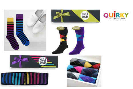 Quirky Gift Library - Fathers day luxury socks gift set - Save 50%