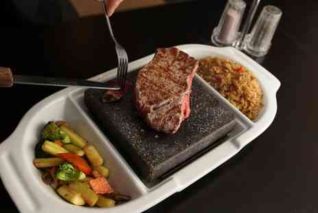 Sams Bar - Stone Cooked Steak with Glass of Wine Each for Two - Save 57%