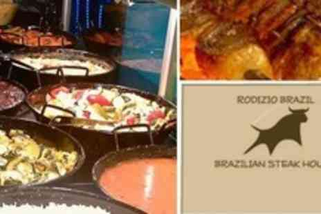 Rodizio Brazil - All You Can Eat Brazilian Rodizio Meal With Salad, Dessert and Glass of Wine - Save 65%