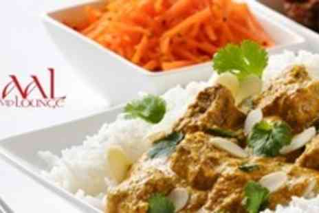 Zaal VIP Lounge - Two Course Indian Meal For Six With Rice or Naan Each - Save 64%