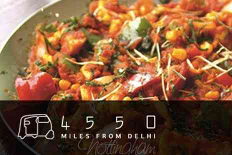 4550 Miles From Delhi - £27 for Three Course Meal For Two - Save 60%