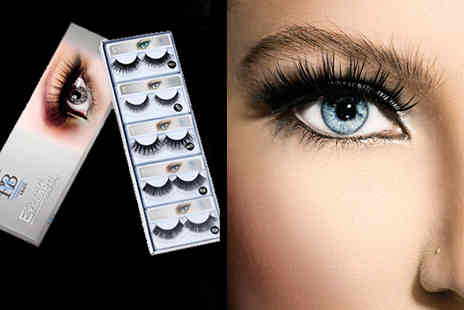 Runway Hair And Beauty - 10 pairs of assorted false eyelashes - Save 78%
