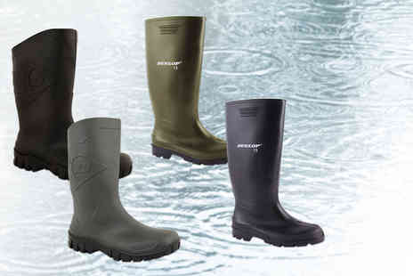 Online Avenue - Pair of Dunlop wellies choose from Phoebe and Dee styles in black and green  - Save 67%