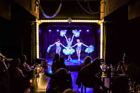 Wild Cabaret - Steak and frites dinner with wine and choice of cabaret show for two - Save 62%