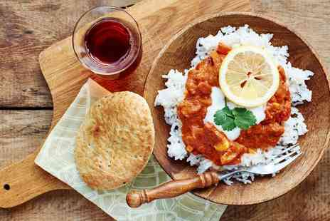 Cafe India - Two Course Indian Meal with Wine or Coke for One, Two or Four - Save 33%