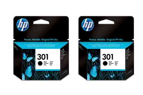 Crazy Kangaroo - Two HP 301 Black Printer Ink Cartridge With Free Delivery - Save 53%
