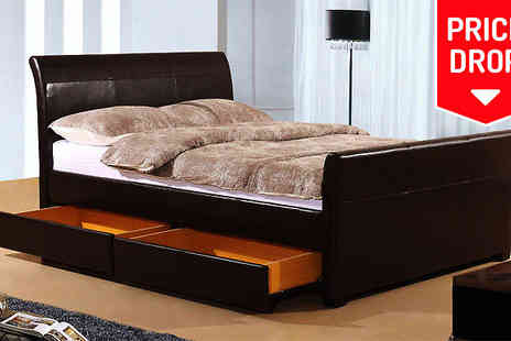 Limitless Base - Madrid Four Drawer Bed Two Colours - Save 75%