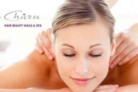 Charu Hair Beauty Nails & Spa - Reiki, Aromatherapy or Swedish Full Body Massage With Manicure or Pedicure - Save 75%