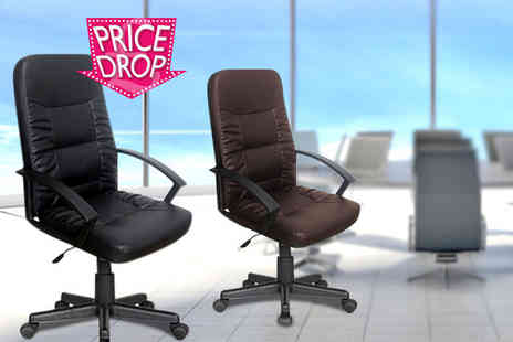 FTA Furnishing - Luxury faux leather office chair - Save 75%