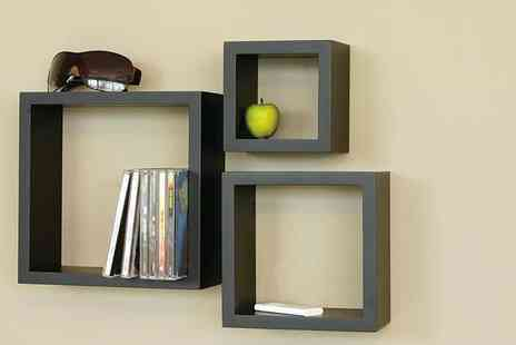 E4Emporium - Three pack of wooden cube shelves - Save 77%