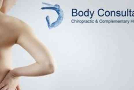 Body Consultancy - Three Chiropractic Treatments With Initial Consultation - Save 75%