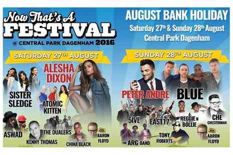 Now Thats a Festival - Now Thats A Festival at Central Park Dagenham, 27 To 28 August  - Save 20%