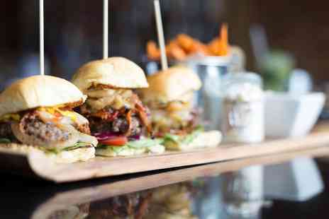 Crust - Burger and fries meal for two - Save 54%