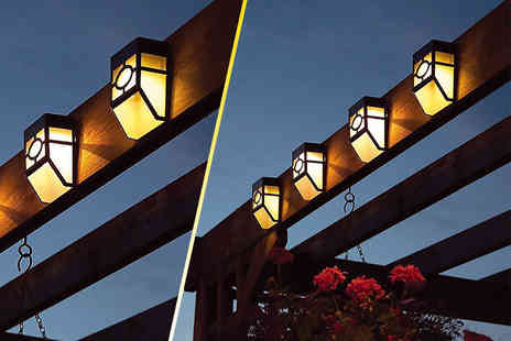 UK Home and Garden Store - Two solar fence lights - Save 68%