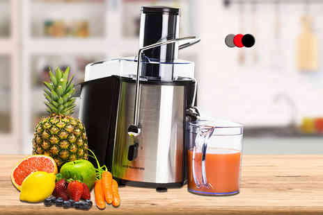 Andrew James - 850W power juicer choose from three colours - Save 35%