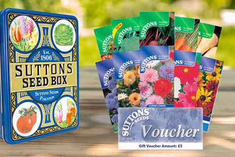 Suttons Seeds - 20 Pack Suttons Seed Box for Vegetables or Flowers or Both - Save 0%