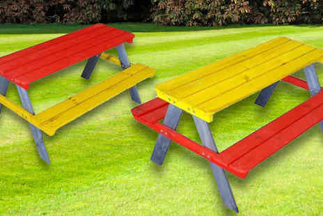 Master of Trading - Childrens Colourful Garden Picnic Bench - Save 0%