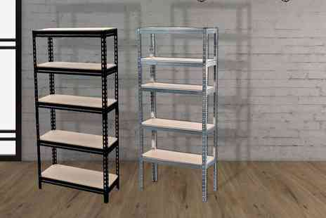 Shop Monk - Five tier shelf racking unit - Save 87%