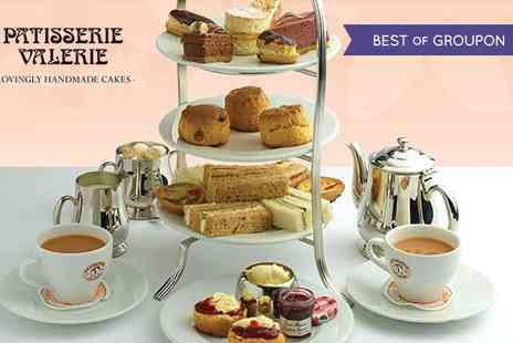 Patisserie Valerie - Afternoon Tea for Two at Patisserie Valerie, Over 120 Locations Nationwide - Save 24%