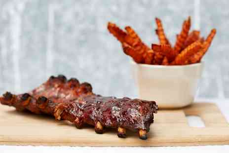 Bar du Vin - Barbecue Rack of Ribs and Wine for Two or Four - Save 58%