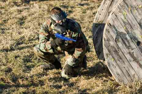 Allout Paintball - Paintballing For 12 With Lunch - Save 0%