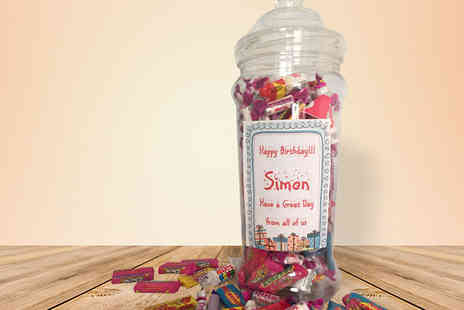 Sweets and Treats - Personalised Retro Sweet Jars - Save 67%