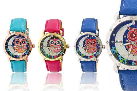 Ideal Deal - Ashley owl design Bertha watch - Save 93%