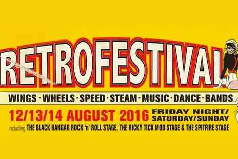 Retro Festival - Evening, All Day or Weekend Ticket to Retro Fastival for Child or Adult on 12-14 August - Save 0%