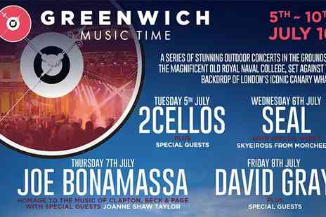 Greenwich Music Time - Ticket to Greenwich Music Time on 5 to 10 July- Save 0%
