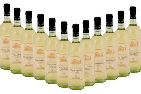 Wine Online - 12 Bottles of Pinot Grigio Veneto With Free Delivery - Save 34%