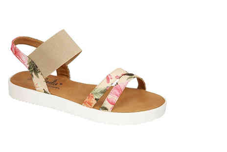 MY UL  - A pair of floral strap sandals - Save 56%