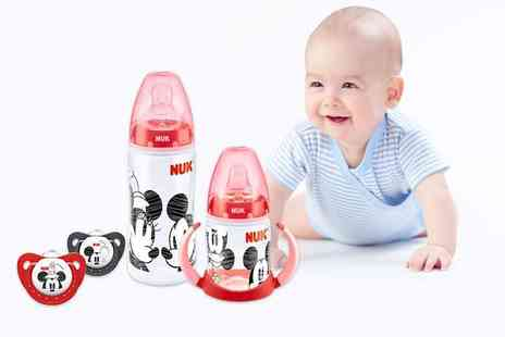 NUK - Mickey and Minnie babys bottle, cup and soother set - Save 57%