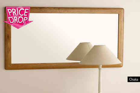 Oak Furniture Land - Oak wall mirror choose from three designs Plus Delivery Included - Save 40%