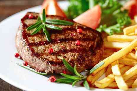 Garbos Bar and Grill - Fillet Steak with a Glass of Wine and One Side Each for Two, Four or Six - Save 41%