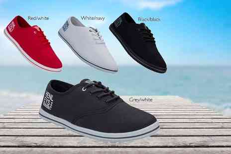 The Fashion City - Pair of mens Henleys lace up canvas pumps choose from eight summer styles - Save 70%