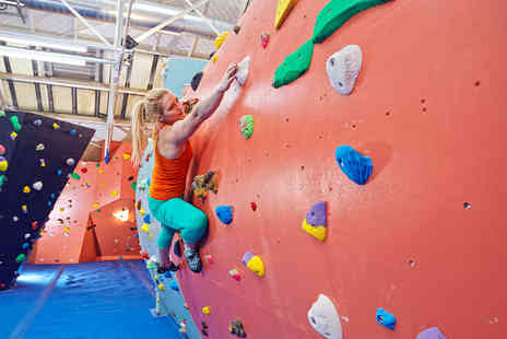 The Arch Climbing Wall - One hour introduction to climbing and a one day climbing pass - Save 70%
