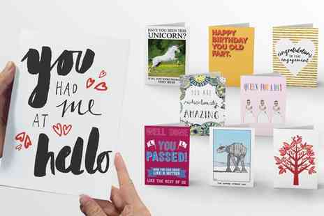Choosey - 12 Months Supply of Personalised Greeting Cards - Save 88%