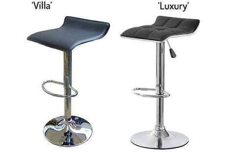 FillMyShelves - Kitchen Bar Stools Two Designs in Black - Save 55%