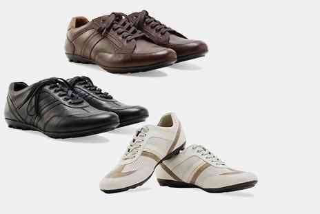 Shoeprimo - Pair of mens genuine leather sports shoes - Save 86%