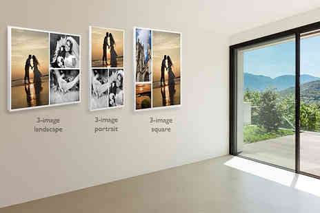 You Frame International - Personalised photo collage canvas in a choice of 12 designs - Save 75%