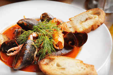 Le Monde - Two course gourmet seafood for two with a glass of Prosecco each - Save 50%