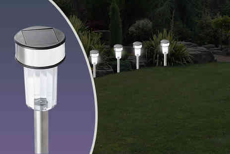 Shop Monk - 10 stainless steel solar post garden lights - Save 80%