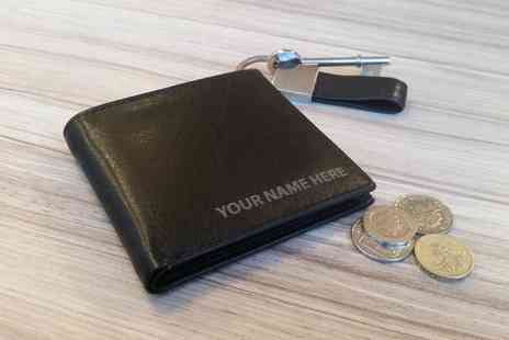 QTPY - Personalised Toscana Mens Leather Wallet With Free Delivery - Save 50%