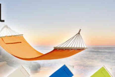 Lifes Simple Luxuries - Canvas hammock with separate cushion in blue, orange, green or white - Save 63%