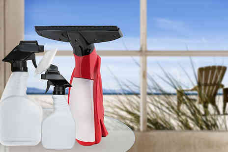 Shop Monk  - Cordless Electric Window Vac and Spray Bottle Set - Save 43%