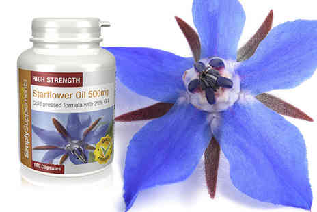 Simply Supplements - 12 month supply of starflower oil - Save 33%