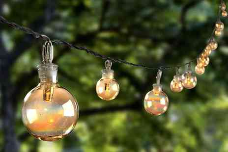 Groupon Goods Global GmbH - Set of 20 Glass Bubble Solar String Lights - Save 50%