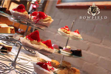 Bowfield Hotel & Country Club - Afternoon tea for two with Prosecco and access to leisure facilities - Save 0%