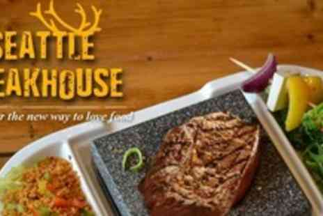 Seattle Steakhouse - Prime American Fillet of Beef and Red Wine For Two - Save 56%