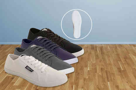 Gorgeous Selection - Pair of mens Henleys lace up canvas pumps - Save 69%